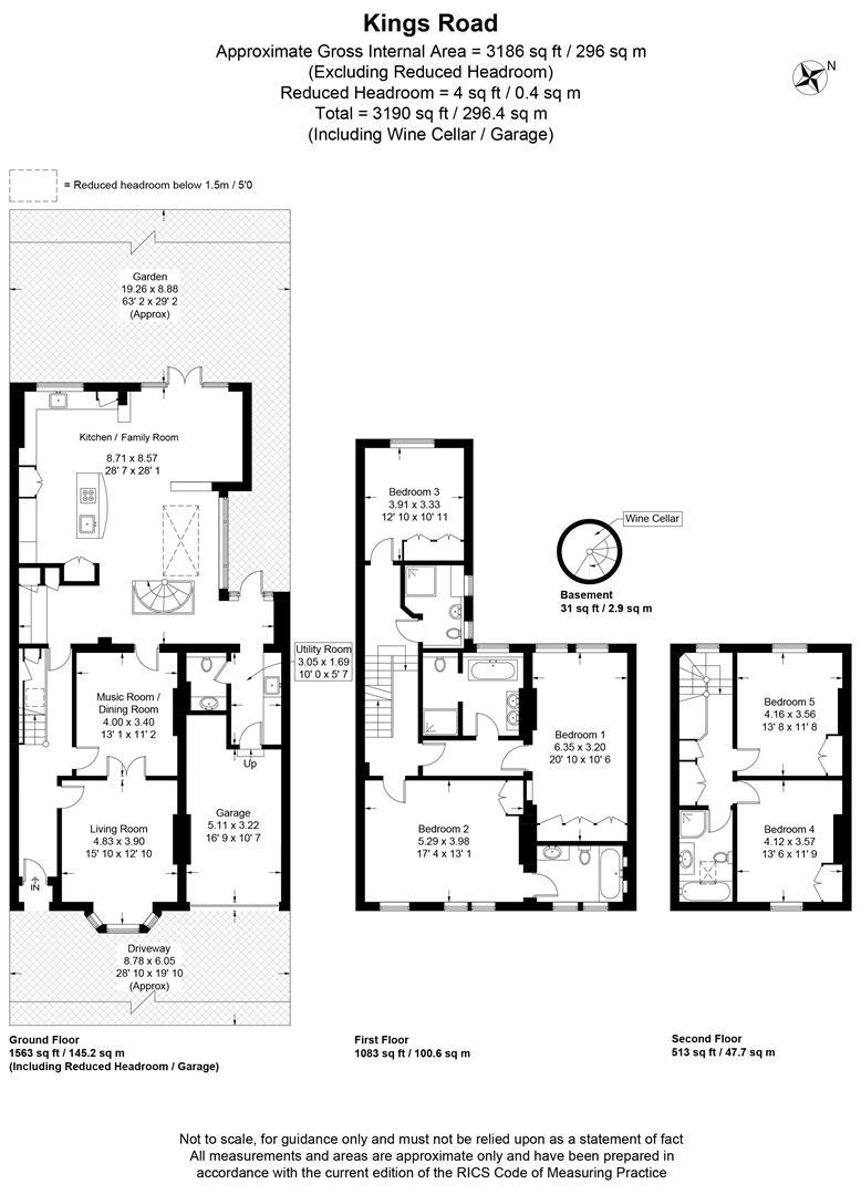 Floorplan for Kings Road, Wimbledon